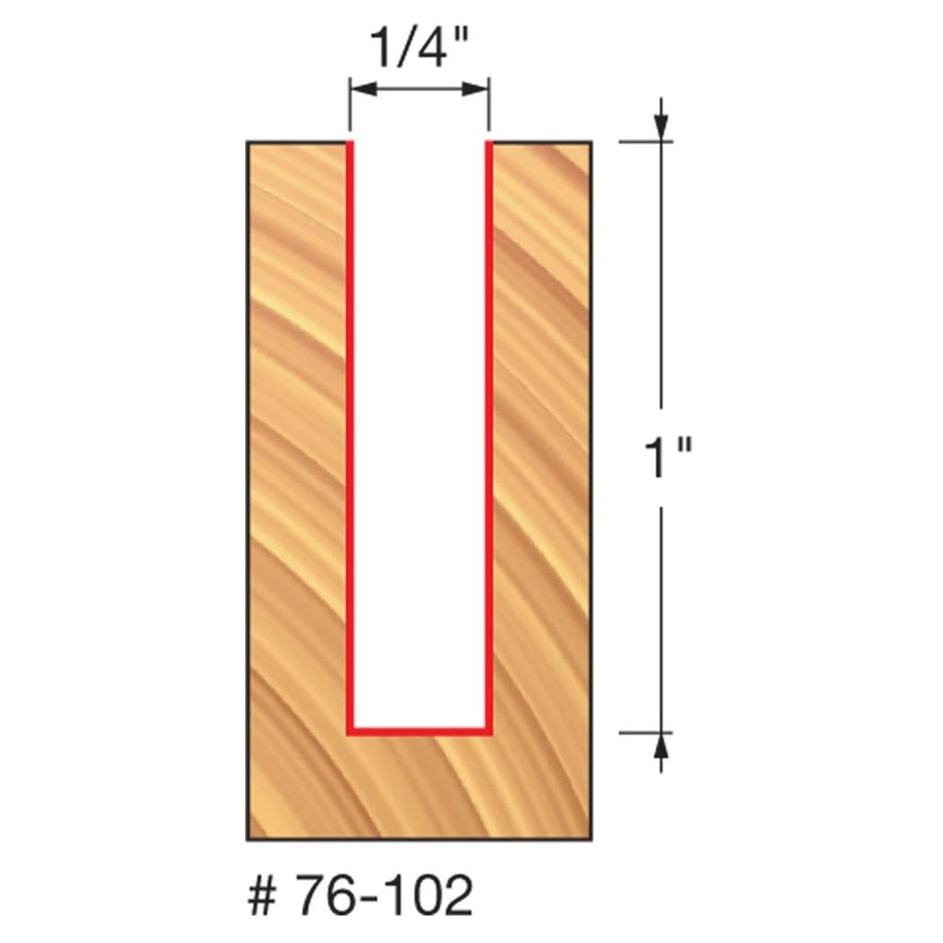 Freud 1/4'' (Dia.) Down Spiral Bit with 1/4'' Shank (76-102)
