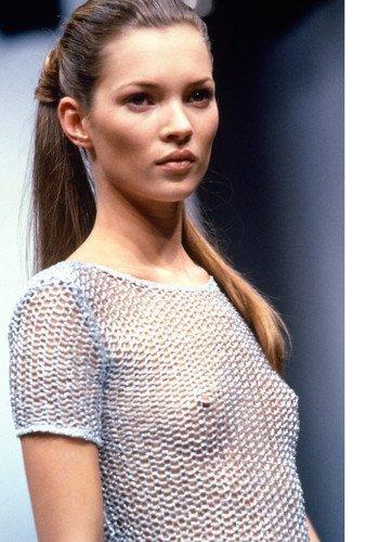 Kate Moss See Thru Top 11x17 Mini Poster