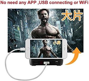 S6000 Mini Proyector Portátil WiFi Beamer Pantalla de Accesorio de ...