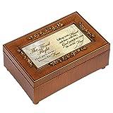 Cottage Garden Final Flight Bereavement Woodgrain Rose Music Box Plays How Great Thou Art