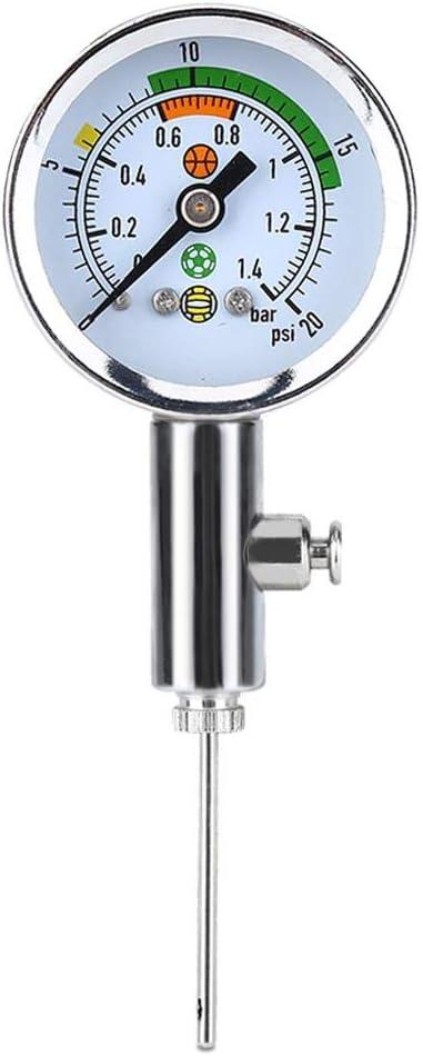 Tbest Medidor de presión de Bola preciso, medidor de presión de Aire Mini Ulitity Herramienta de barómetro Ajustar la presión para el balón de fútbol Baloncesto Fútbol Voleibol