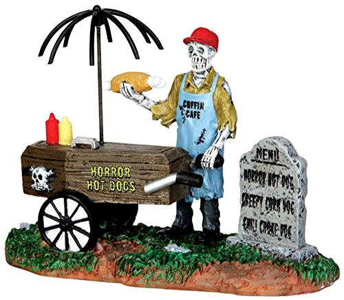 Lemax Spooky Town Ghoul Hot Dog Vendor # (Halloween Store Nearby)