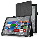Surface pro 4 Case, IVSO Microsoft Surface pro 4 Leather Keyboard Portfolio Stand Cover Case-Will Only fit Microsoft Surface pro 4 Tablet (Black)