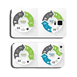 Vector circle arrows infographics set. Template for cycle cell phone cover case iPhone6 Plus