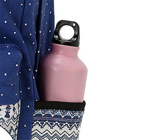 JSbetter - Bolso mochila  para mujer multicolor azul claro Azul