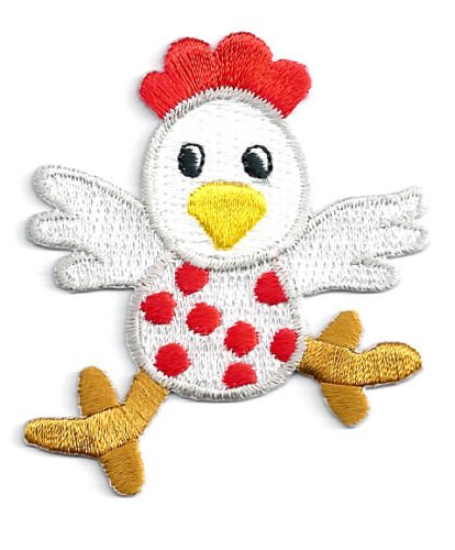 (Chicken - Farm Animal - Childrens Design Fully Embroidered Iron on Patch Cool Patch Iron On)