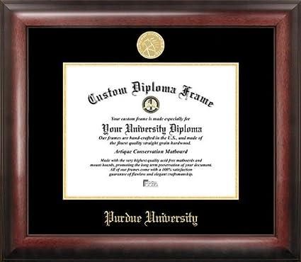 Amazon.com : Purdue University Gold Embossed Diploma Frame : Sports ...