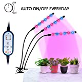 Elivern Plant Grow Lights, Full spectrum led grow light, Panted Auto On/Off Cycle TIMING