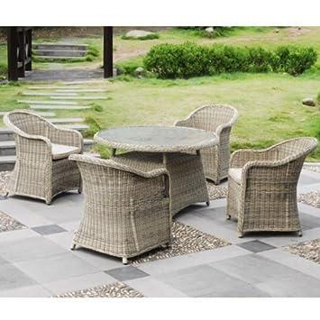 Sitzgruppe Cordoba 5tlg Tischgruppe Rund Stuhl Tisch Gartenmöbel