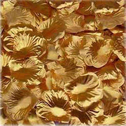1000pcs Gold Silk Rose Petals Bouquet Artificial Flower Wedding Party Aisle Decor Tabl Scatters Confett