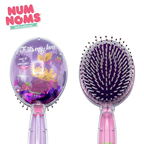 Num Noms Kids Children Printed Hair Brush with Floating Confetti in Purple