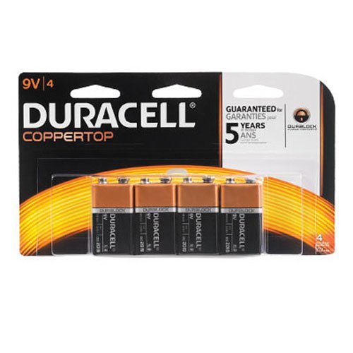 Procter & Gamble MN16B4DW Duracell 9V Battery, 4 Count (Pack of 1)