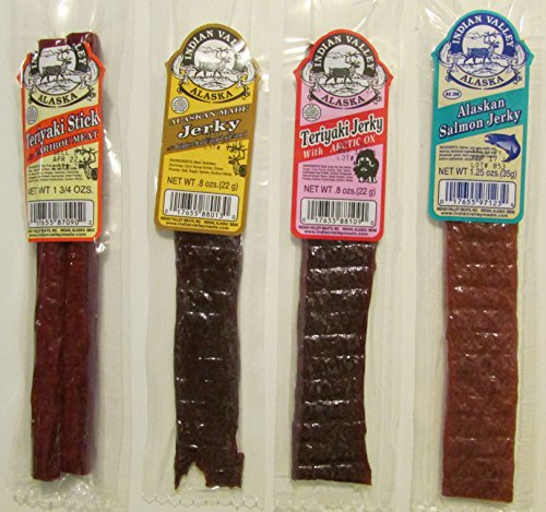 Exotic Wild Game Jerky Combo Pack of Four- Caribou, Reind...
