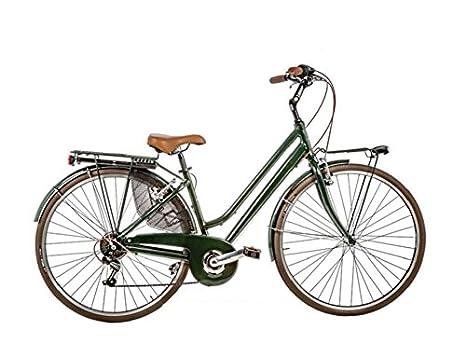 Bici 28 Donna Vintage 6v Alluminio Vintage6vd Made In Italy Verde
