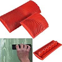 Gaweb Wood Graining Plastic Painting Effects Tool Texture Pattern DIY Home Decoration - Red