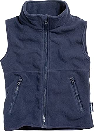 Playshoes Boy's Kids Sleeveless Warm Fleece Vest Zipper Gilet ...