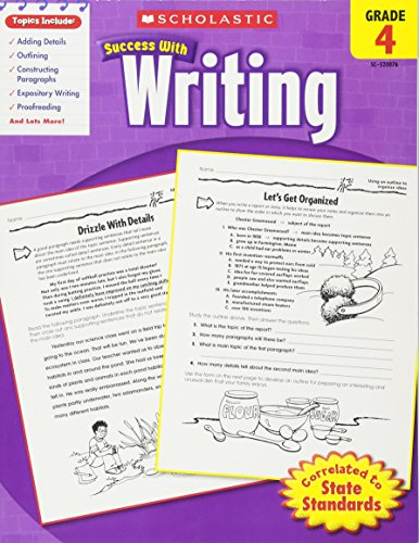 Scholastic Success with Writing, Grade 4 cover