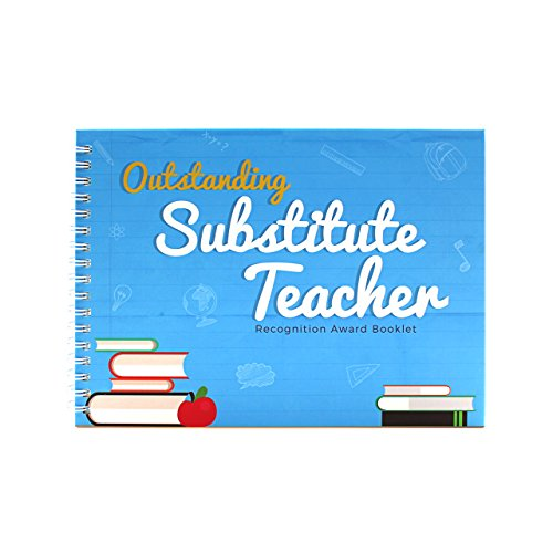 Outstanding Substitute Teacher Edition - Recognition Award Booklet - This Memory Book contains Funny Designs And Original Quotes is The Perfect Gift For Your Favorite Teacher - Comes with Stickers]()