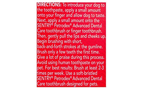 Petrodex Enzymatic Toothpaste for Dogs, Helps Reduce Tartar and Plaque Buildup, Poultry Flavor 3