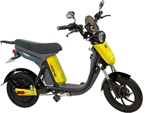 GigaByke Groove - 750W Electric Motorized Bike (Yellow)
