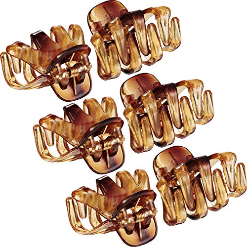 Bememo 24 Pack 3 cm Mini Grip Octopus Clip Spider Jaw Hair Claw Clips (Brown)