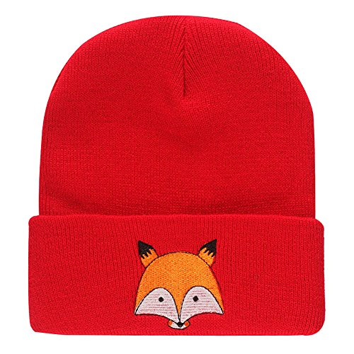 STORTO Fox Embroidery Beanie Hat Unisex Fashion Warm Knitted Skull Caps at  Amazon Women s Clothing store  5f2c574c63e3
