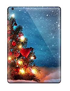 XiFu*MeiNew Arrival Christmas Tree Outside Snow Night Decoration Lights Xmas Santa Claus Holiday Christmas For Ipad Air Case CoverXiFu*Mei