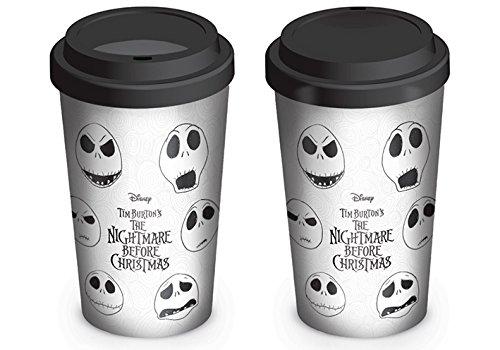 Disney MGT24975 Nightmare Before Christmas (Faces of Jack) Travel Mug, Multi-Colour]()