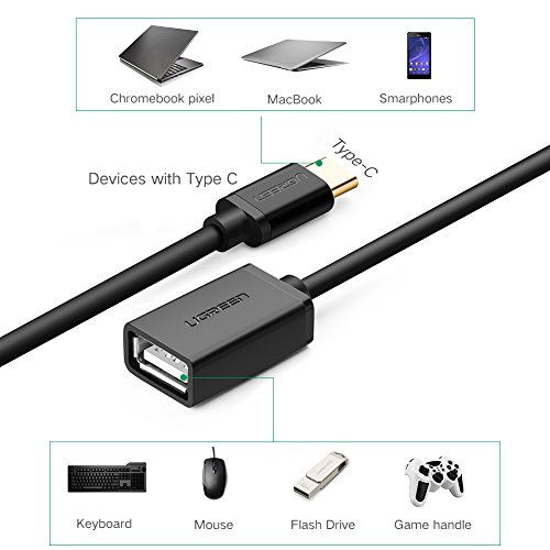UGREEN USB C OTG Cable USB C USB Adapter, Male Type C to