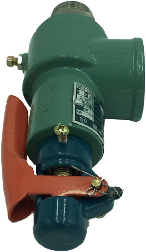 Sharplace A28H-16 Válvula de Alivio de Seguridad DN25 0.7-1.0MPa Caldera Tanque Almacenamiento de Gas - Verde + Rojo DN25