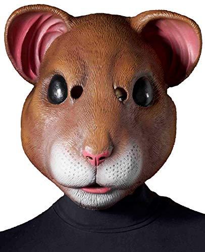 Forum Novelties Latex Hamster Mask, Brown, One Size for $<!--$29.99-->