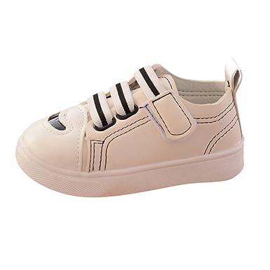 YanHoo Zapatos Casuales de Rayas para niños Zapatos de Fondo Suave Niños pequeños Skate Zapatos de bebé para Correr Chicos Chica Raya Zapatos de Suela Suave ...