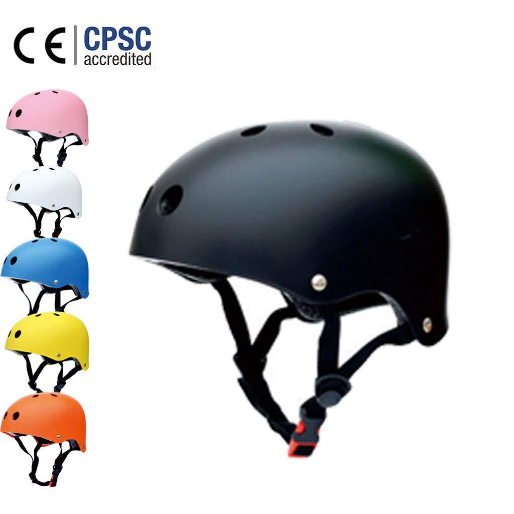 Seguridad Ajustable Deporte Ligera para Montar en Bicicleta Casco de Bicicleta BMX Scooter Skate Mountain con certificaci/ón CE Allyine Scooter Skate Casco 6 Colores