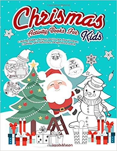 christmas activity books for kids coloring hidden pictures dot to dot how to draw counting spot difference design word search christmas gifts for