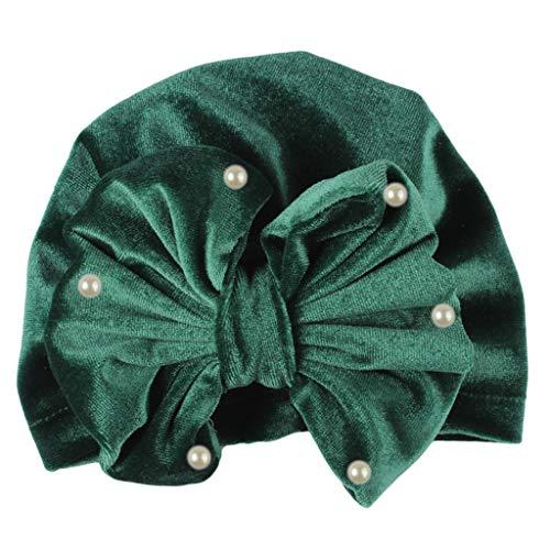 FILOL Newborn Toddler Turban Beanie Hat Kids Baby Infant Winter Autum Spring Headwear Bonnets Hat for Baby Boy Girls (Army Green) (Wear Army Beret)