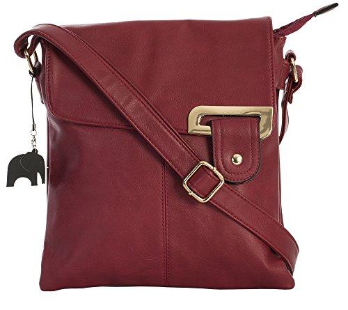 Messenger a Trendy and Deep Red Branded Womens Bag Trim Big With Shop Medium Protective Gold Charm Cross Handbag Storage Body Bag Shoulder wPnBIX