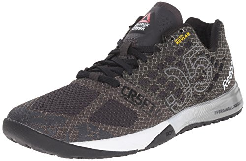 Reebok Women's Crossfit Nano 5.0 Training Shoe, Coal/Black/White/Tin Grey/Motor  Red/Shark, 8.5 M US