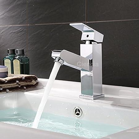 Single Handle Deck Mounted Chrome Finish Toilet Bathroom Mixer Sink Faucet Tap