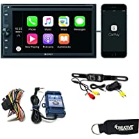 Sony XAV-AX200 CD/DVD Receiver with SiriusXM, Bluetooth, Apple CarPlay, AndroidAuto, Steering Wheel Interface and Camera