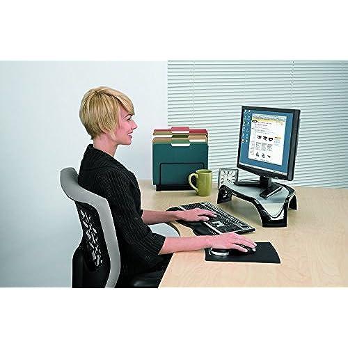 durable modeling Fellowes Smart Suites Corner Monitor Riser, Black (8020101)