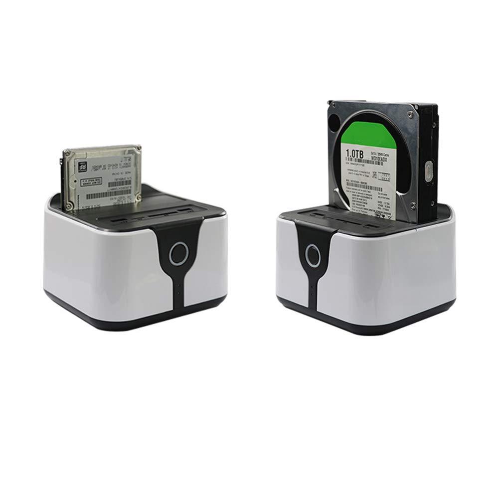 Shentesel USB 3.0 External SATA Hard Drive Docking Station Card Reader Multifunctional - White+Black