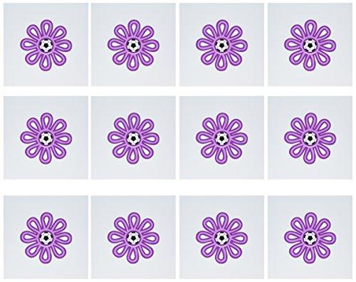 3dRose Set of 12 Greeting Cards, Soccer Flower Purple (gc_16667_2) (Soccer Flower)