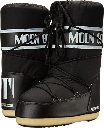 Moon Boot Nylon Junior Winter Fashion Boots, Black, 30 EU (10-12.5 M US Little Kid) (Boots Moon Snow Winter)