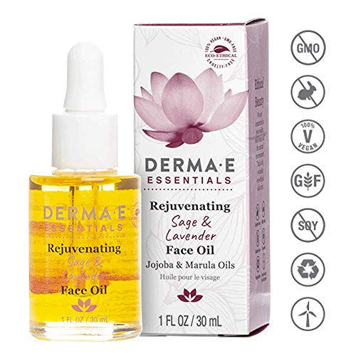 DERMA E Rejuvenating Sage & Lavender Face Oil, 1oz (Derma E Vitamin A And E Oil)