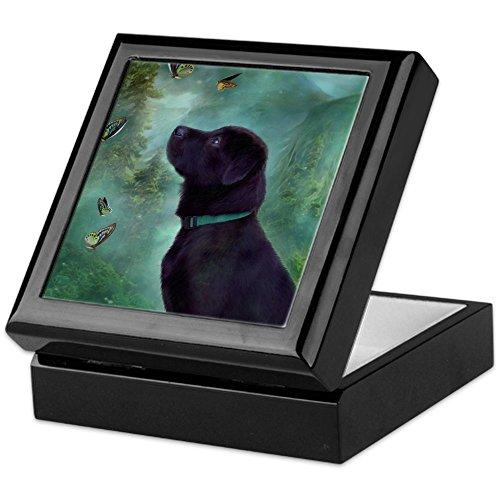 CafePress - Image350 - Keepsake Box, Finished Hardwood Jewelry Box, Velvet Lined Memento Box - Labrador Tile Box