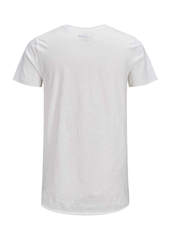 JACK & JONES 12136679WHITE - Camiseta de algodón para Hombre ...