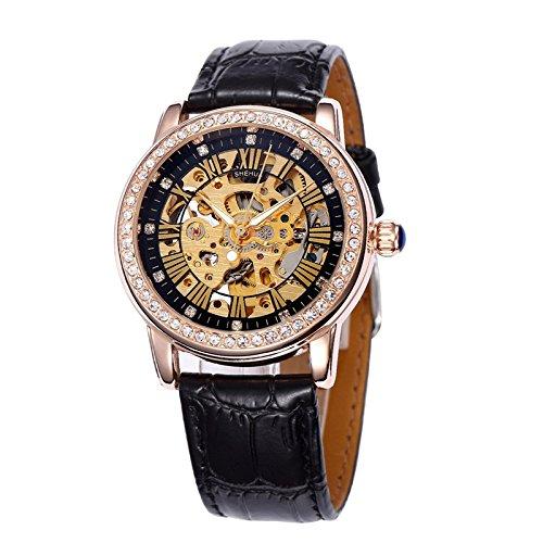 Nice bestselling automático reloj mecánico hueco automático mecánico relojes al por mayor de Highend Blac: Amazon.es: Relojes
