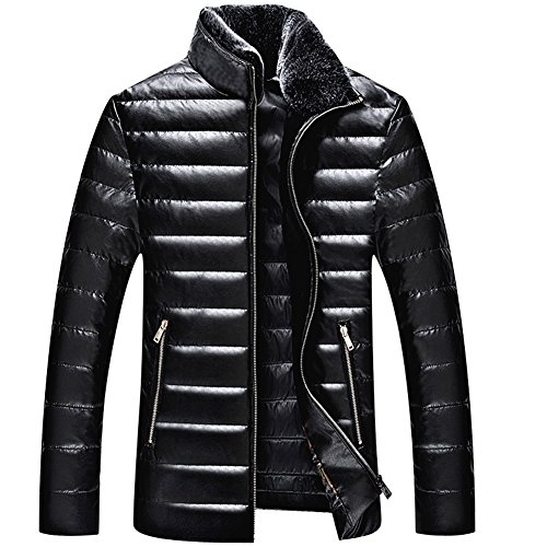 [BENNINGCO Mens's Outdoor Light Down Jacket(Black,M)] (Mardi Gras Outfit Ideas)