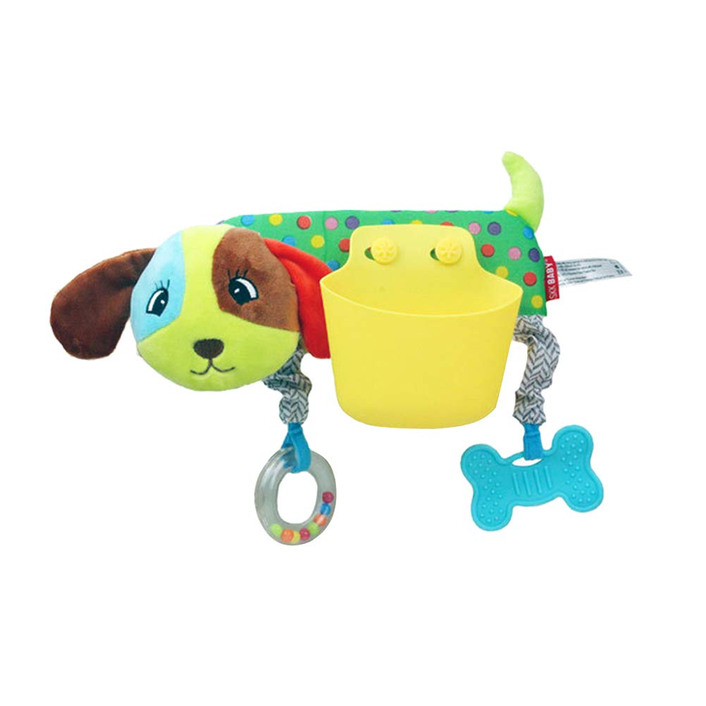 STOBOK Kinderwagenspielzeug Baby Hund Form mit fbewahrungstasche Beißring Krippe Bett Auto Sitz Hänge Spielzeug