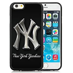 Fashionable And Nice Designed Case For iPhone 6 4.7 Inch TPU With New York Yankees 1 Black Phone Case